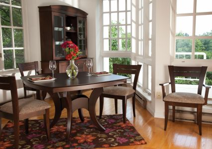Crescent Dining Table with 39 Chairs