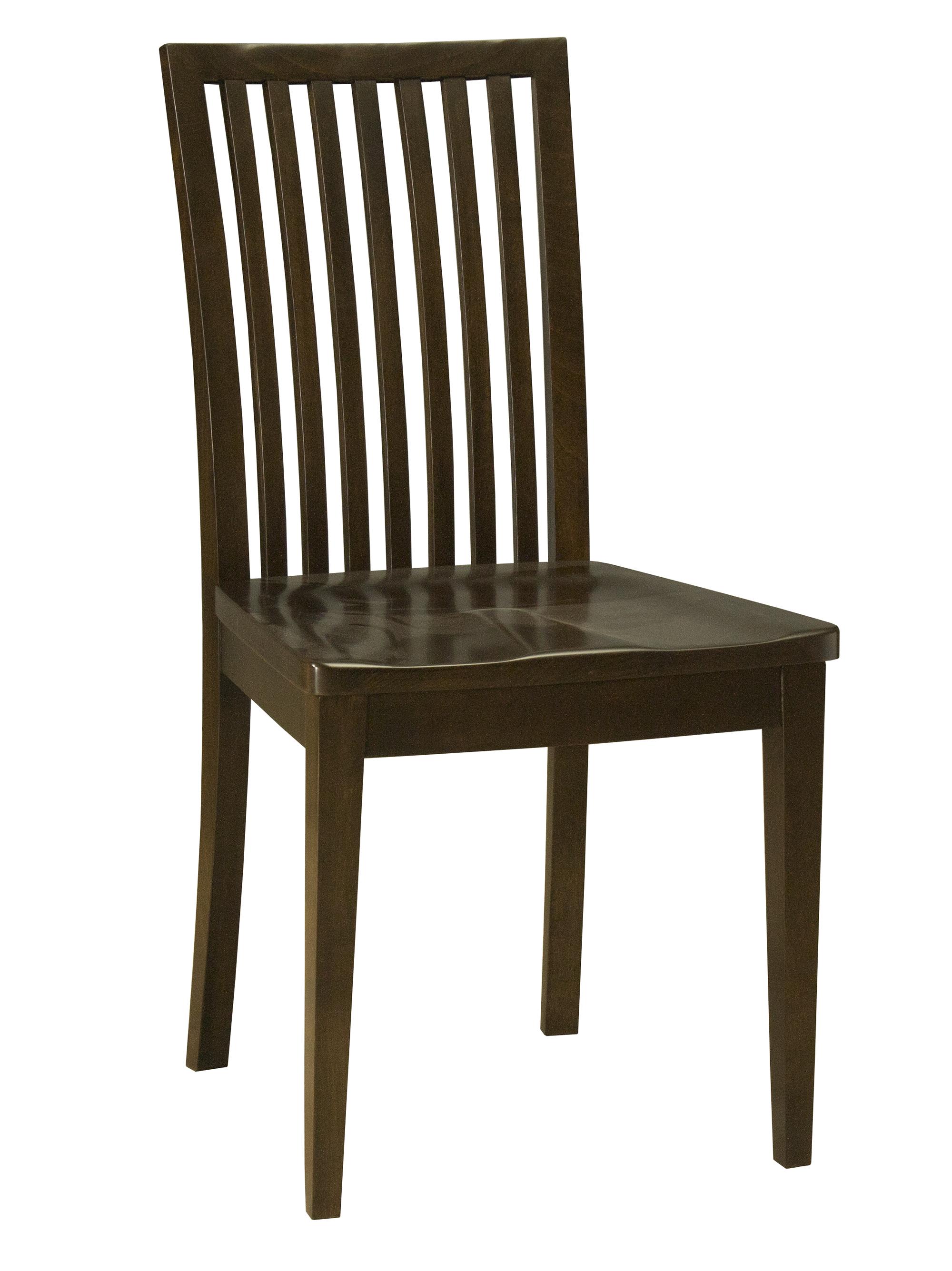 Model 24 Side Chair Wood Seat Saloom Furniture Company