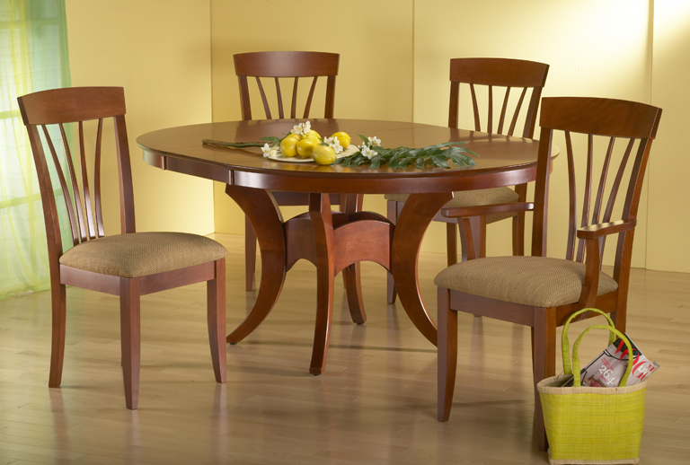 Crescent solid oak dining room furniture small storage ...