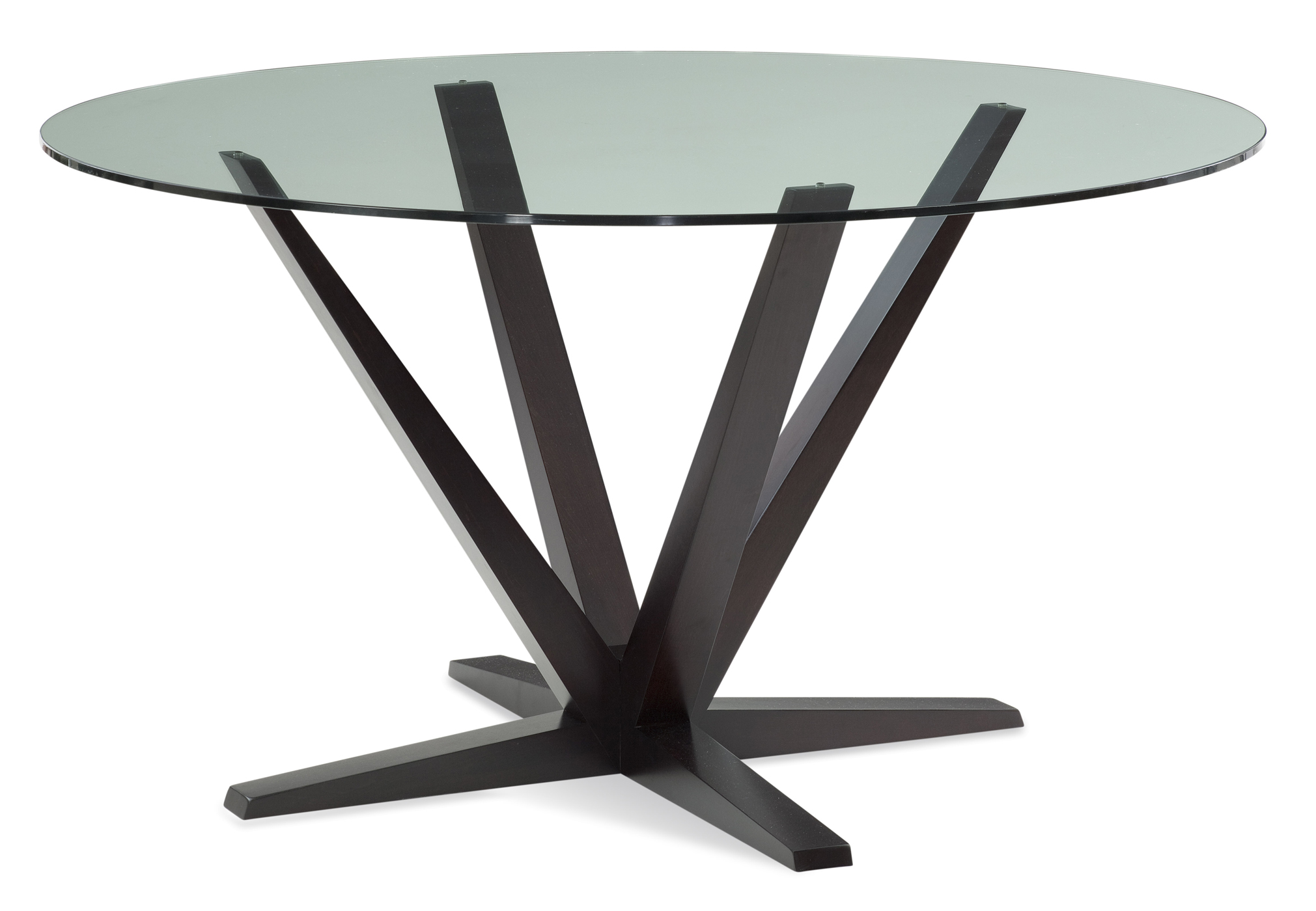 Aura glass top dining table