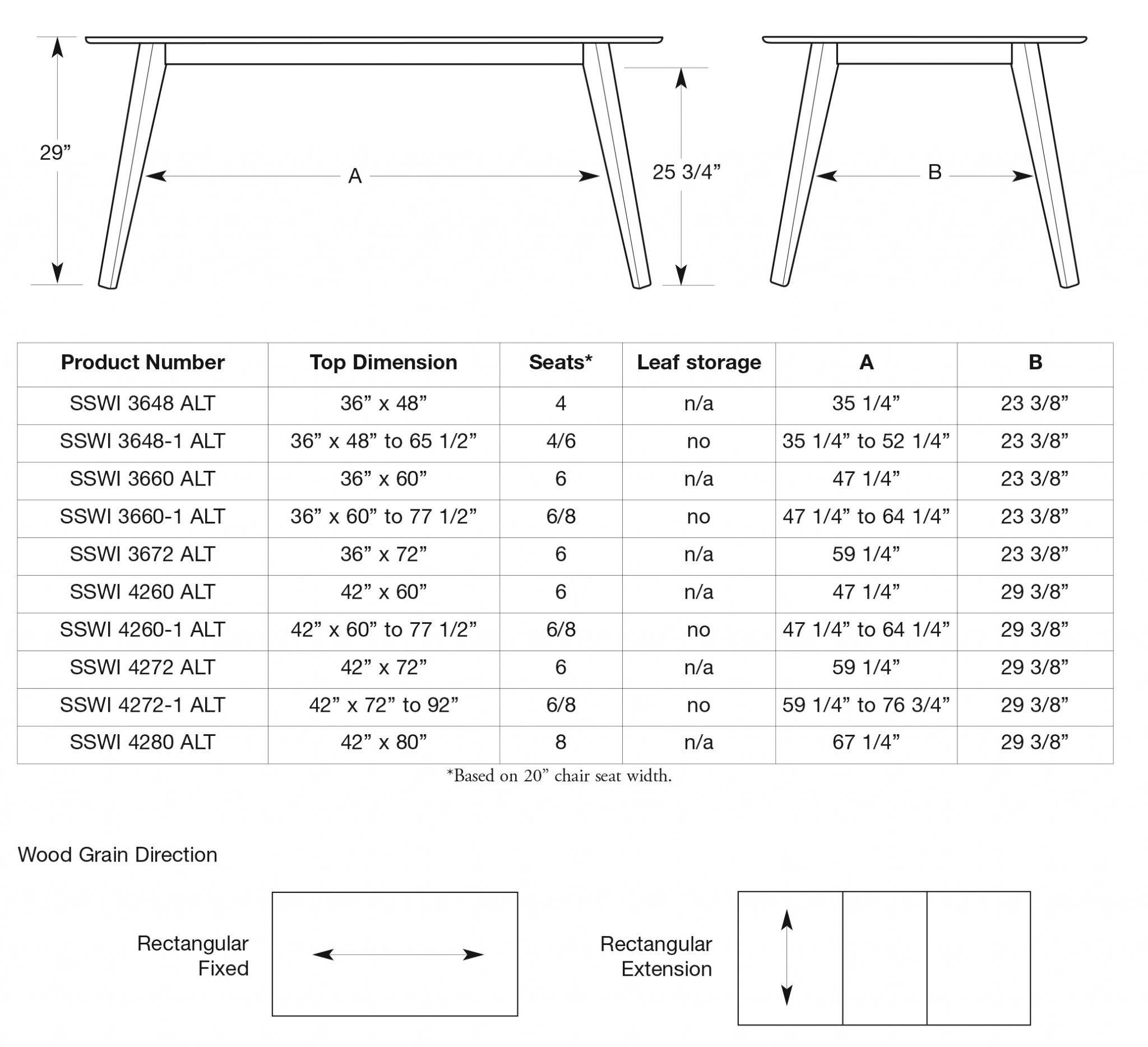 Alton Dining Table – Saloom Furniture pany