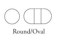 Round/Oval Shaped